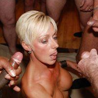 Virginie, MILF blonde accroc au gangbang